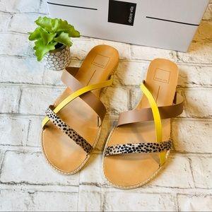 NWT Dolce Vita Leopard Multi Stella Sandals